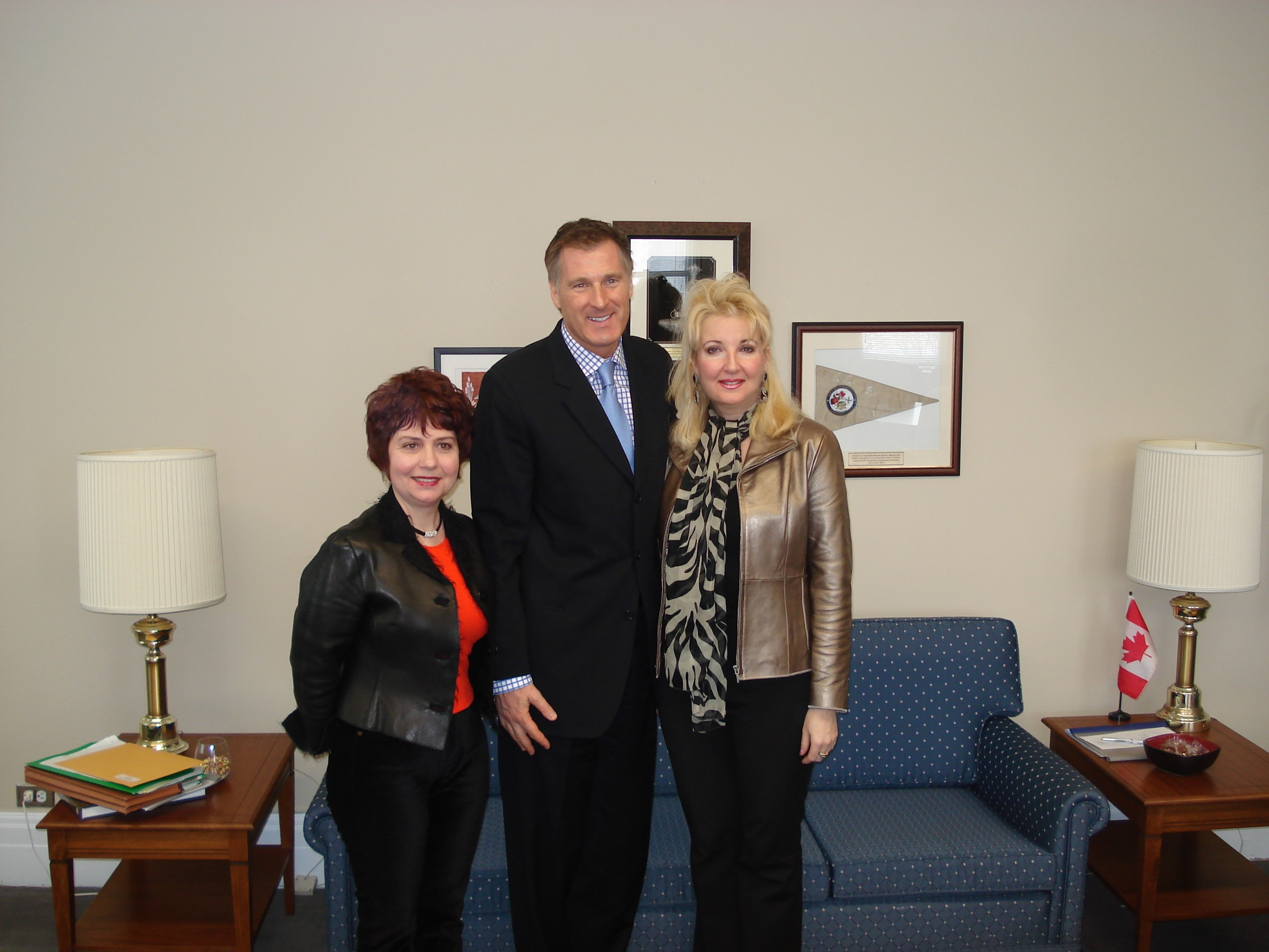 Maxime Bernier with Shpir and Shymko